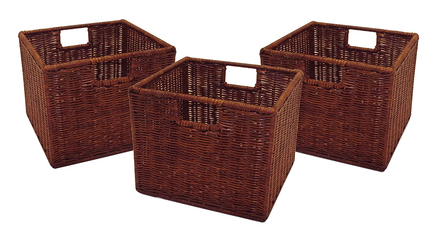 Amazon.com Winsome Wood Leo Set Of 3 Wired Baskets Small Home u0026 Kitchen  sc 1 st  Amazon.com & Amazon.com: Winsome Wood Leo Set Of 3 Wired Baskets Small: Home ...