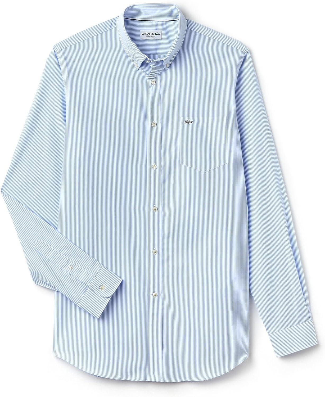 Lacoste Camisa CH3969-R6F Celeste. 40 Azul: Amazon.es: Ropa y accesorios