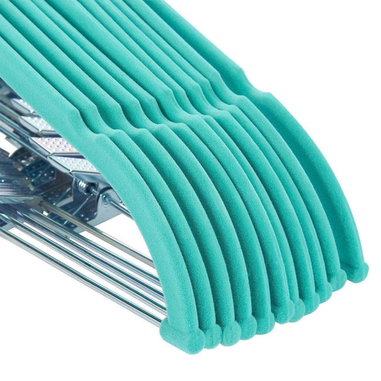 Juvale 24/Unidades de Terciopelo Ropa Perchas con Pinzas Azul Ultra Thin No Slip 17.5/x 0.2 x 9.5/