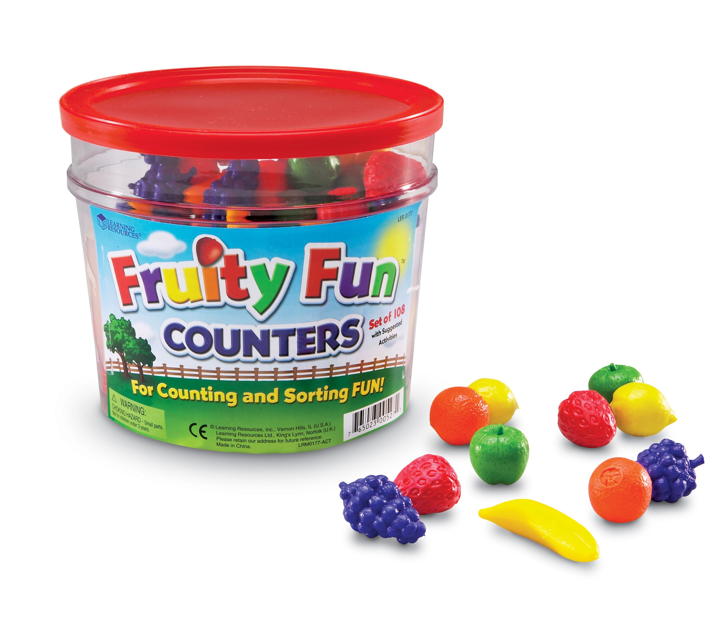 Learning Resources Fruity Fun Counters, Educational Counting & Sorting Toy, Set of 108 by Learning Resources