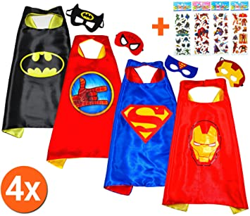 Batman, Superman + Iron Man + SPIDER mano (Juego 4 Unidades) + 4