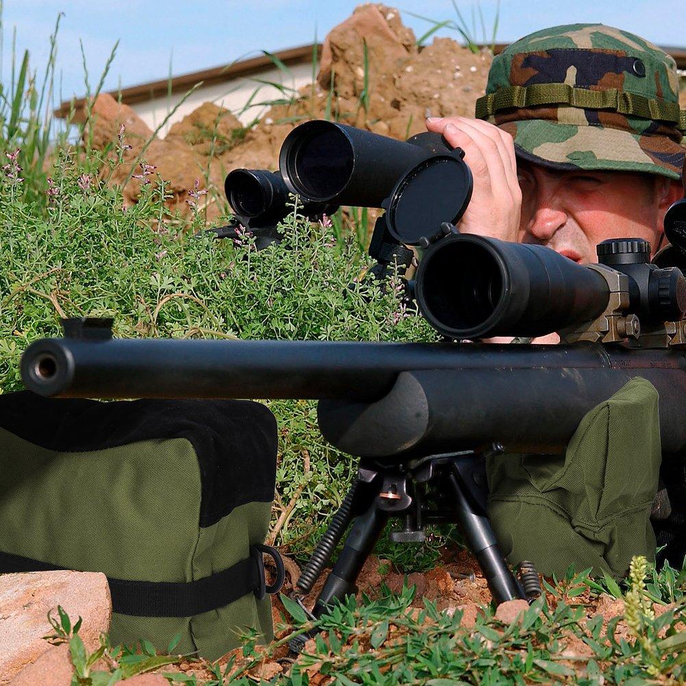 Jagd Target Shooting f/ür Wandern Camping Bench Rest Staubbeutel Alomejor Vorne und Hinten Jagd Bench Staubbeutel Set