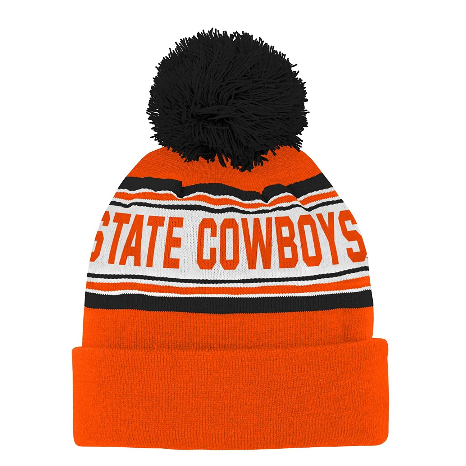 NCAA Oklahoma State Cowboys Toddler Outerstuff  Jacquard Cuffed Knit Hat with Pom Team Color Toddler