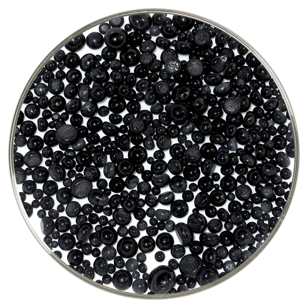 Black Opalescent Frit Balls - 90COE, New Larger 1oz Size - Made from Bullseye Glass New Hampshire Craftworks