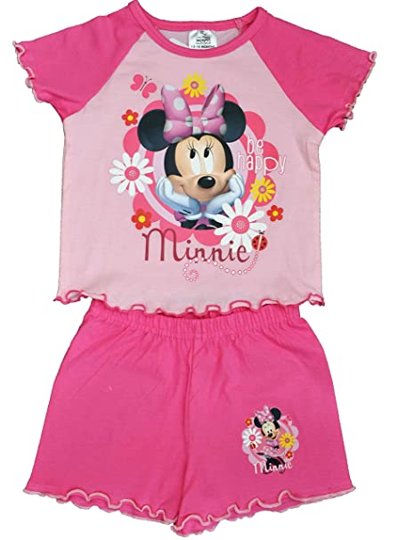 7 /& 8 Years 5 Girls Minnie Mouse T-shirt Disney Minnie Tops Age 3 6 4