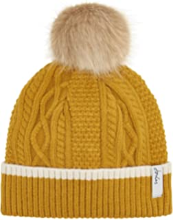 d9fc5765c9820 Joules Womens Anya Contrast Cable Knitted Bobble Beanie Hat