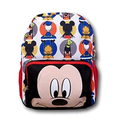 KBNL Disney Mickey Mouse Big Face All Over Backpack, 16 Inch | Kids' Backpacks