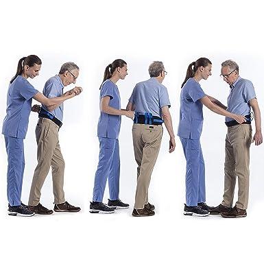 REAQER Cinta de Seguridad de Enfermería, Cinturón de Transferencia Ajustable de Salud, Cintura de Transferencia para Paciente y Personal Médico