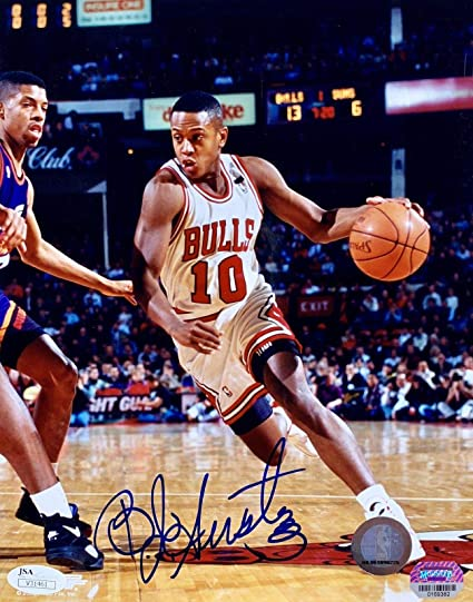 Autographed BJ Armstrong Photo...