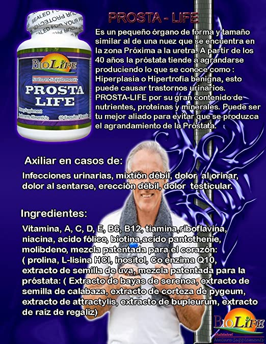 Amazon.com: Prosta Life 33 Ingredient Prostate Supplement ...