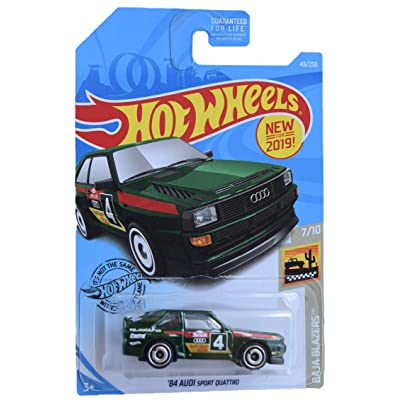 Hot Wheels Baja Blazers Series 7/10 '84 Sport Quattro 43/250, Green: Toys & Games
