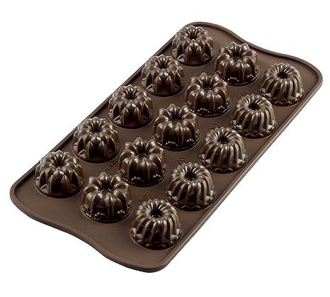 SCG19 Molde de silicona para chocolatines fantasia, color marrón