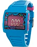 Freegun - EE5079 - Montre Mixte - Quartz Digital - Cadran Multicolore - Bracelet Plastique Bleu