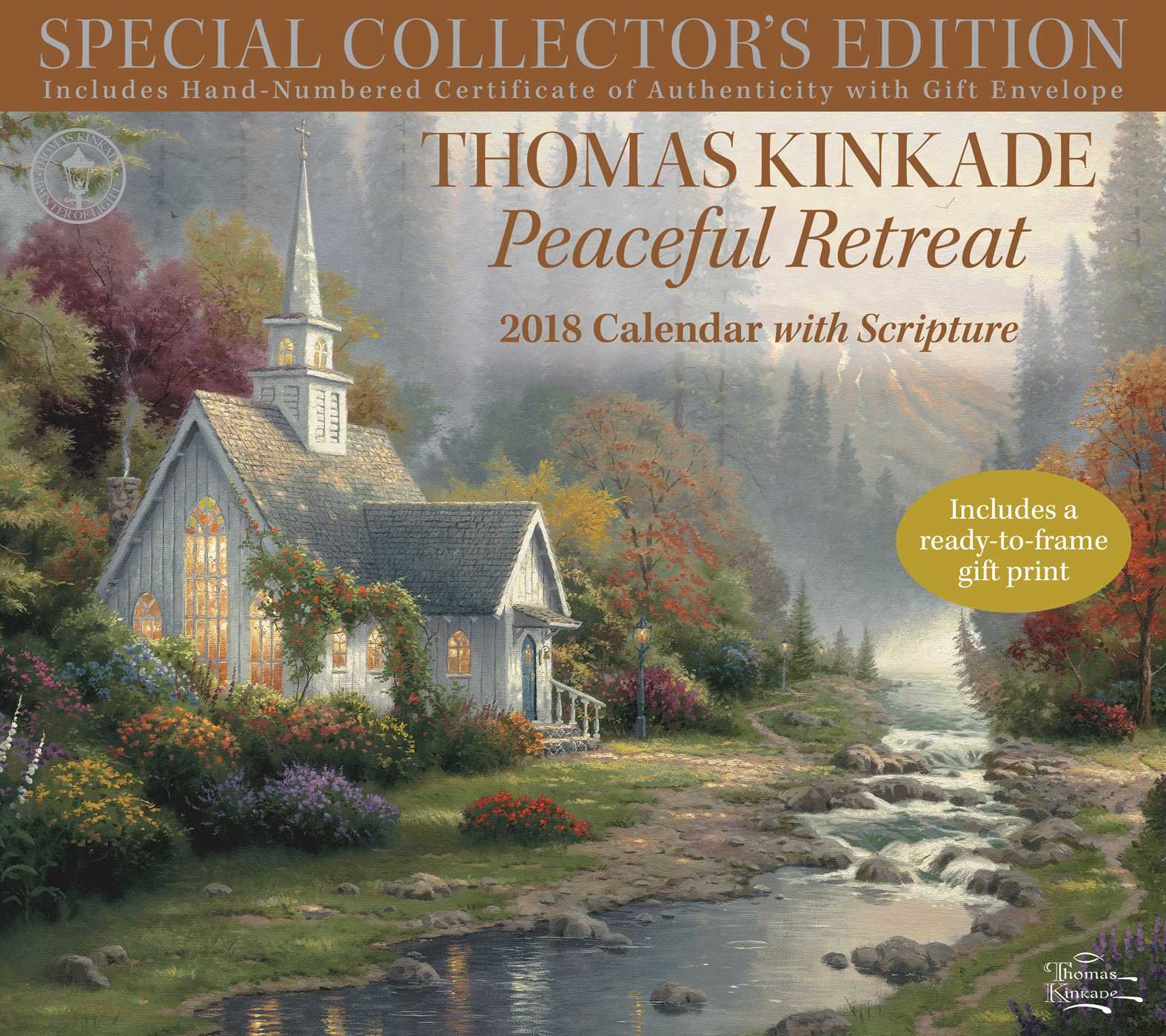Thomas Kinkade Peaceful Retreat With Scripture 2018 Calendar (Anglais) Calendrier – Calendrier mural, 1 août 2017 Andrews McMeel Publishing 1449482910 Relating to religious groups NON-CLASSIFIABLE