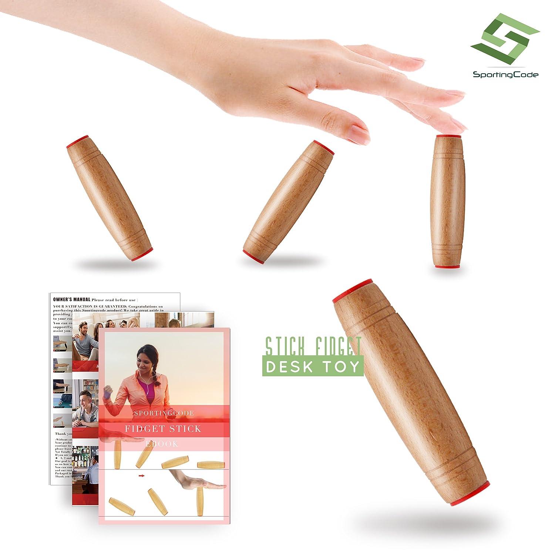Fidget Toy Fidget Stick Relieve Stress Improve Focus For Children and Adults Black Sportingcode
