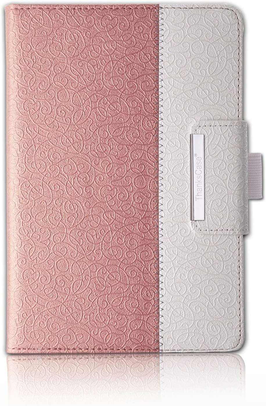 "Thankscase Case for iPad Air 10.5"" (3rd Gen) / iPad Pro 10.5, Rotating Case Stand Cover with Pencil Holder, Swivel Case Bulid-in Wallet Pocket, Hand Strap for iPad Air 3rd Gen 10.5"" 2019(Rose Gold)"