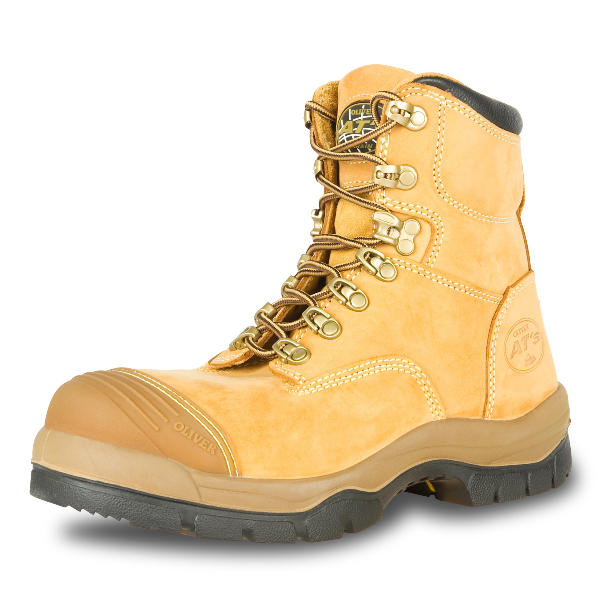 Oliver 55 Series 6'' Leather Men's Steel Toe Work Boots, Wheat (55232)