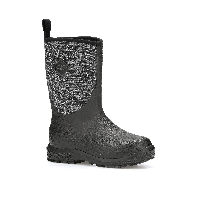 Muck Boot Kid's Element Waterproof Boots, Black, Neoprene, Rubber, Fleece