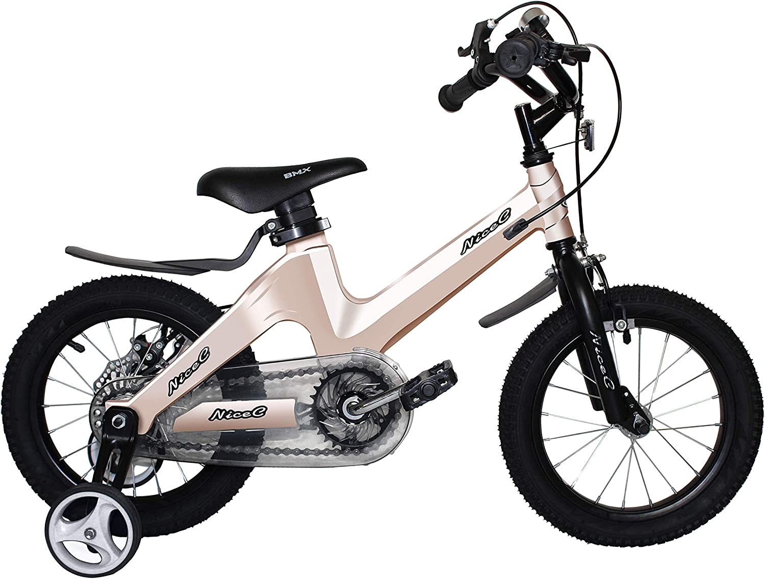 Nice C BMX Kids Bike with Dual Disc Brake for Boy and Girl 12-14-16-18 inch Training Wheels