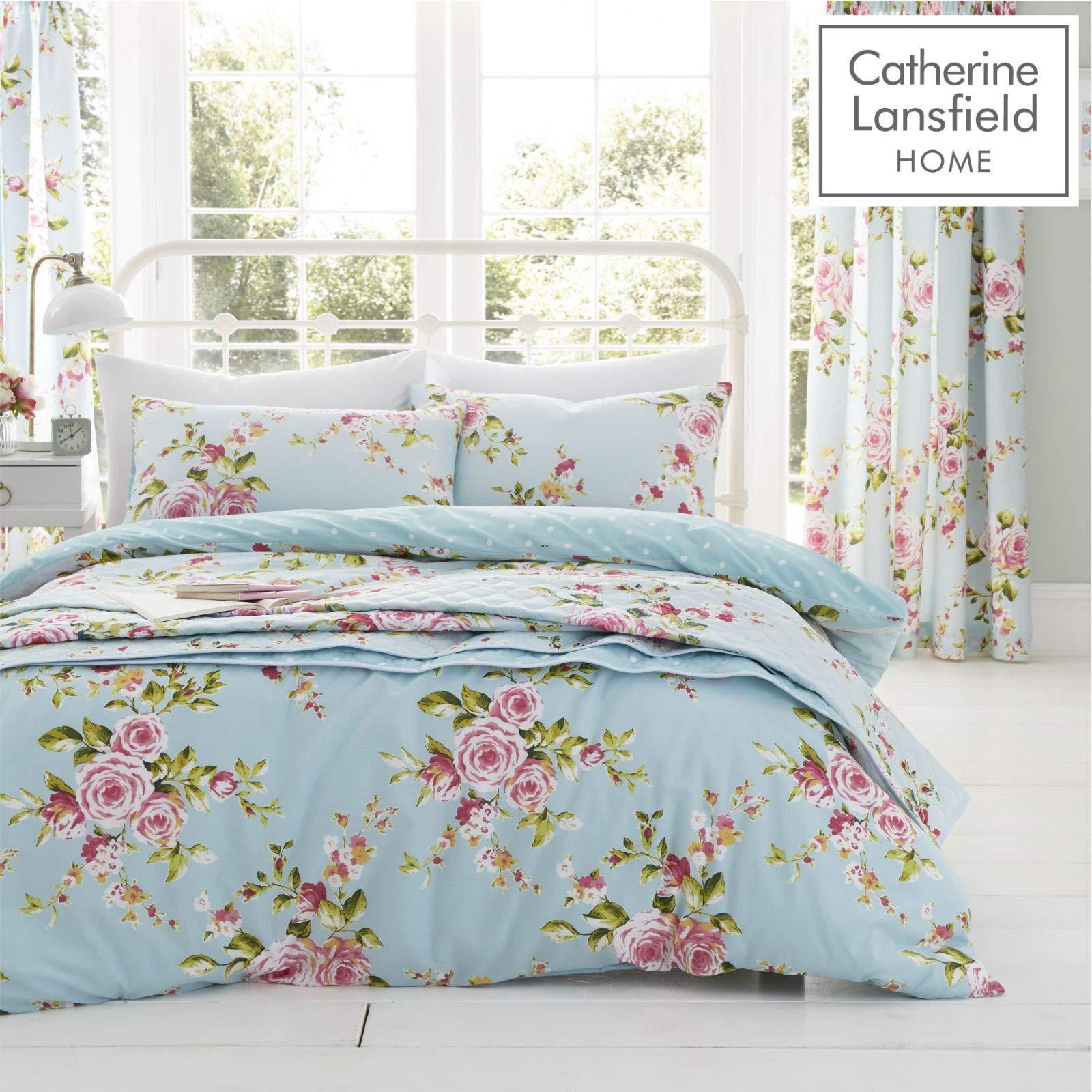 Catherine Lansfield - Juego de funda de edredón y fundas de almohada para cama de matrimonio