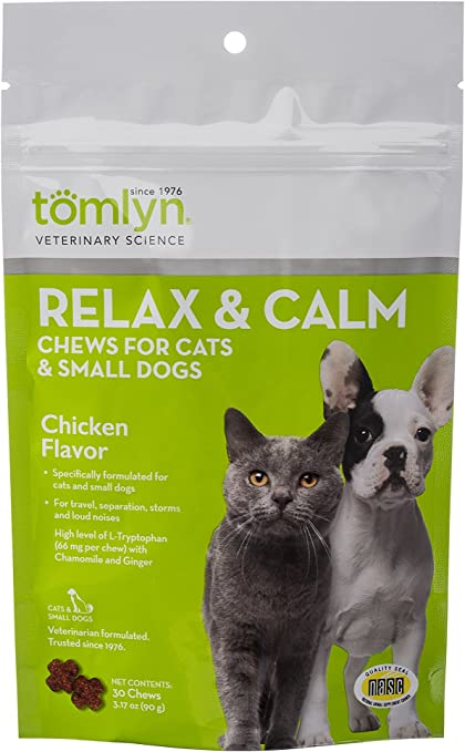 TOMLYN Relax and Calm Chews for Cats and Dogs | Chewy