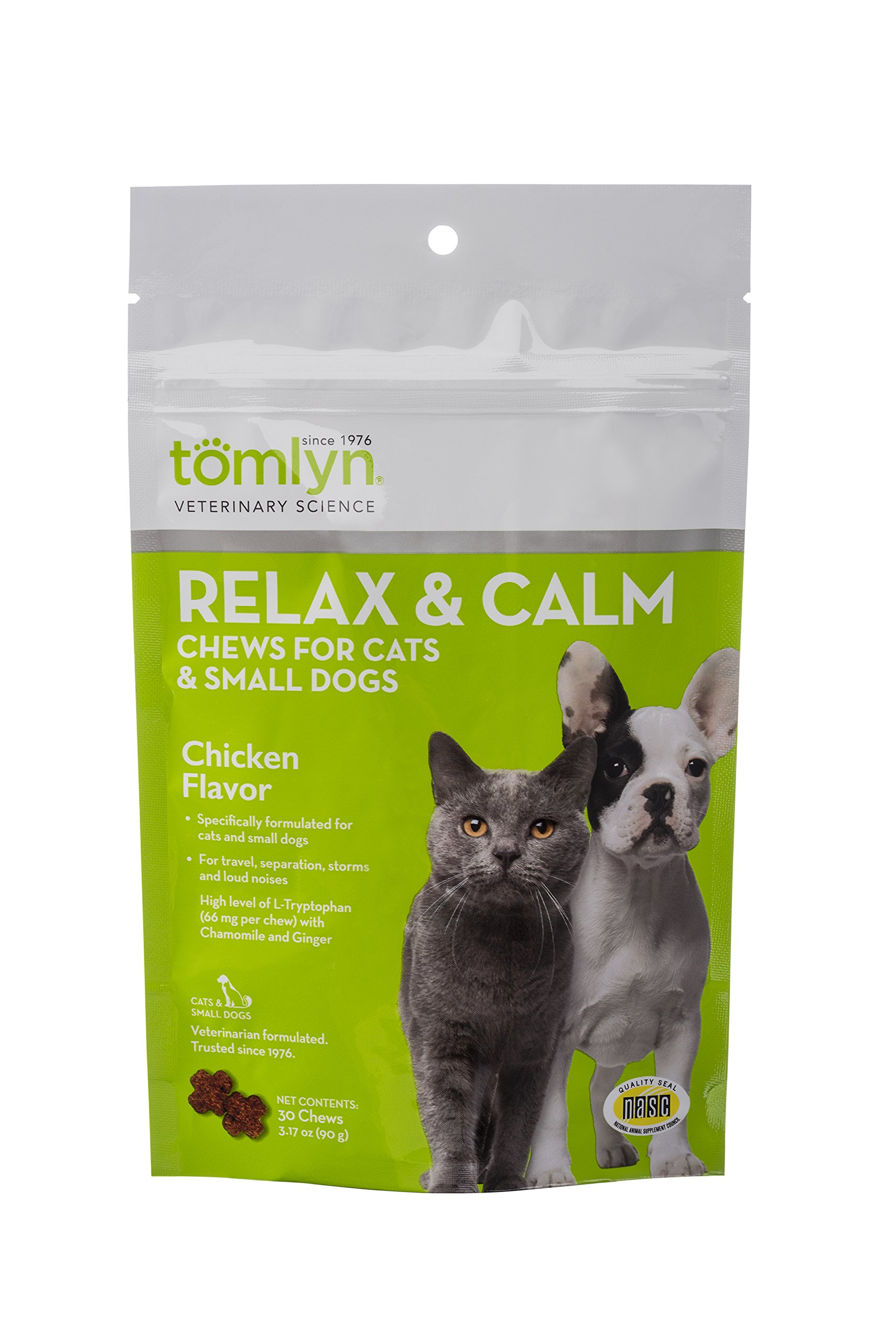 Tomlyn Relax and Calm Chews for Cats and Small Dogs 30ct.