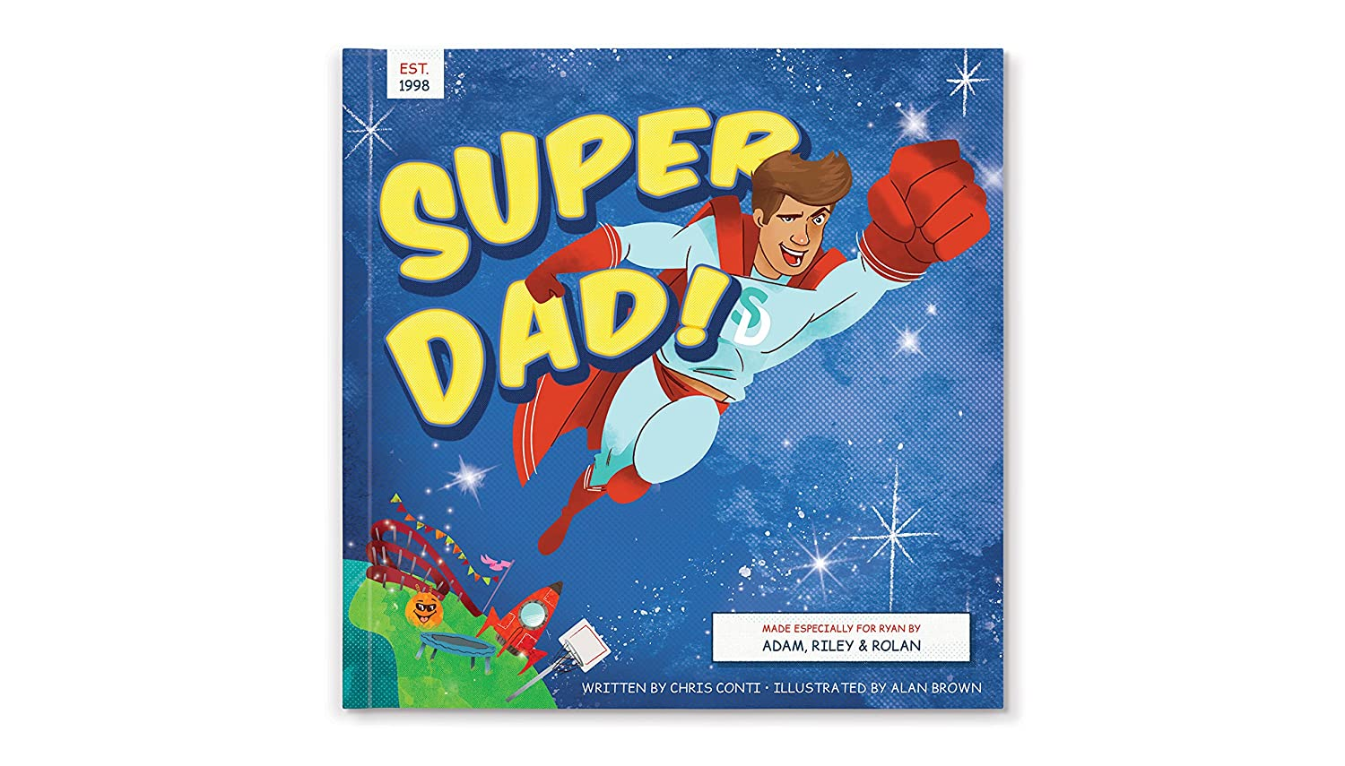 Personalized Unique Fathers Day Gift for Dad Super Dad Book