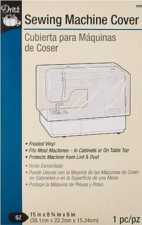 Dritz 901 Machine Dust Cover for Serger 13 x 12-3//4 x 8-3//4 Clear Vinyl