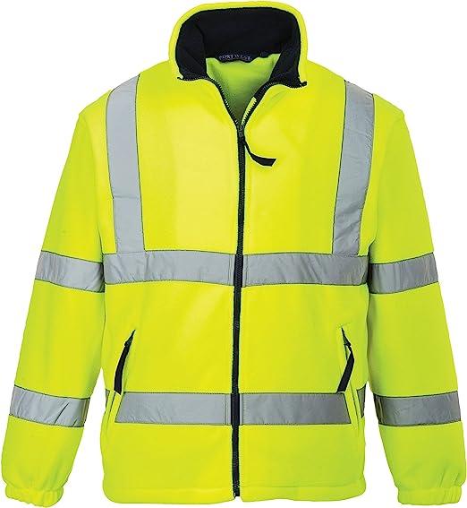 Hi-Vis High Visibility Portwest Mesh Lined Work Fleece Safety Jacket S 5XL
