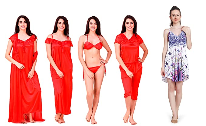 b0fb916a810 Image Unavailable. Image not available for. Colour  KEOTI Women s Satin Nighty  Set ...