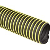 Flexadux T-7W Thermoplastic Rubber Duct Hose, Black, For Use With Dust, Chips, Shavings