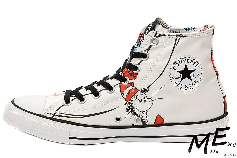 04099cfaf64 Amazon.com | Converse Chuck Taylor Dr Seuss The CAT in The HAT Hi Sneaker  Sz Men 9 wmn 11 | Fashion Sneakers