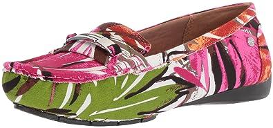 LifeStride Women's Viva Driving Style Loafer, Red/Multi, ...