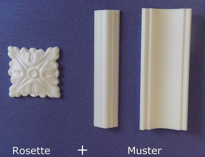 blanc verni Coin en bois universel 15 x 15 x 112 Pour plinthes int/érieur et ext/érieur h/être massiv