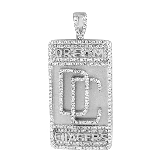 Amazon dream chasers custom pendant sterling silver lab created dream chasers custom pendant sterling silver lab created cz iced out unique charm aloadofball Gallery