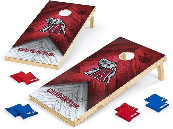 Wild Sports 2x4 NCAA College Cornhole Set Heritage Design
