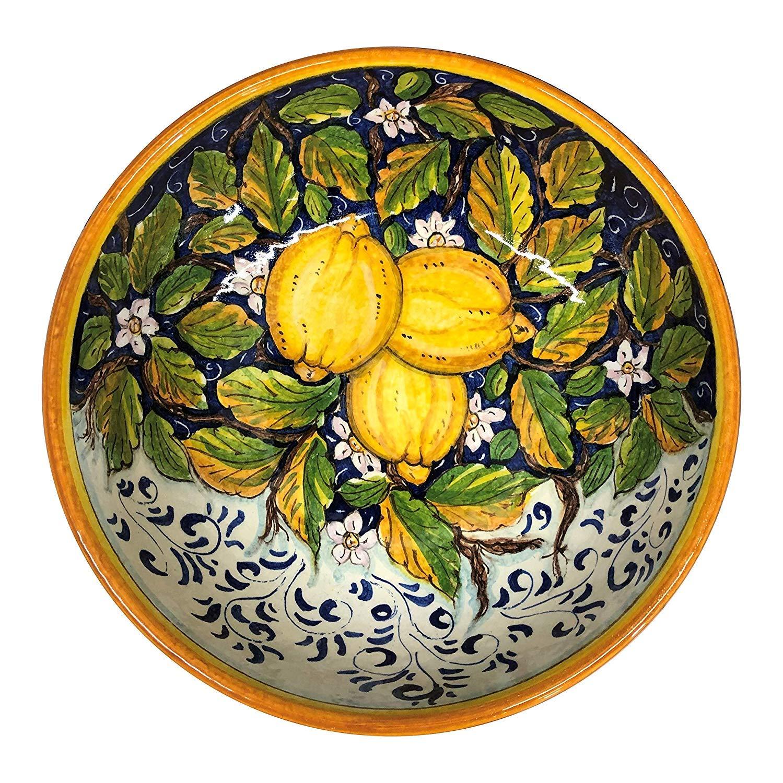 CERAMICHE DARTE PARRINI Italian Ceramic Small Bowl Decorated Lemons Art Pottery Made in ITALY Tuscan