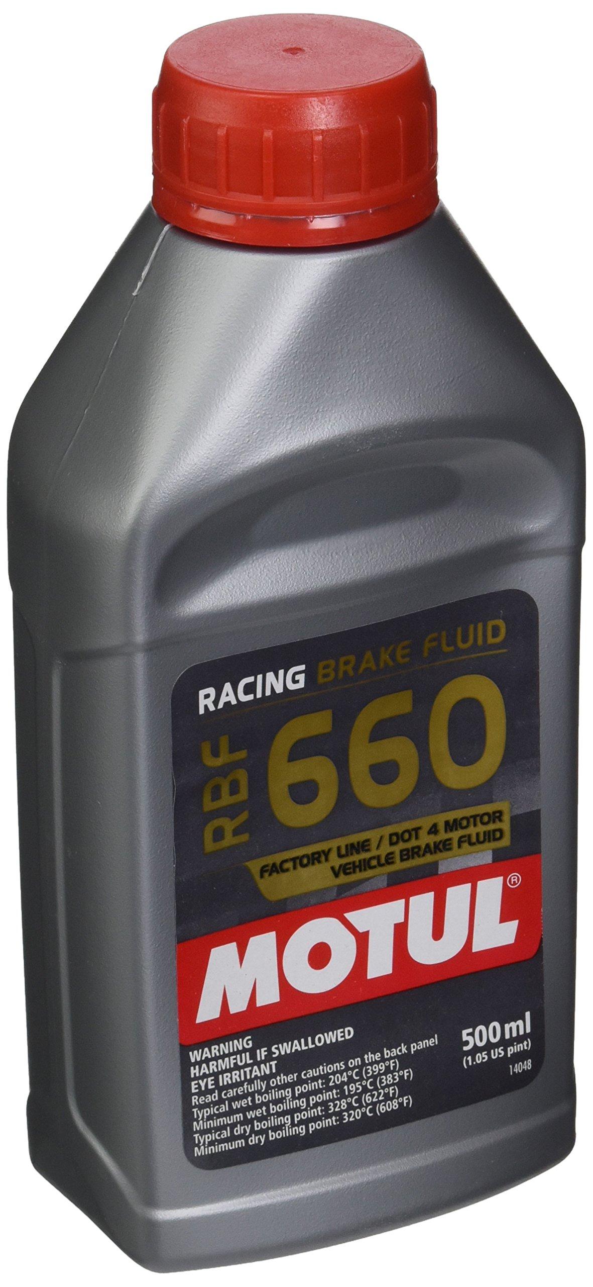Motul 847205-12PK RBF 660 Factory Line Dot-4 100 Percent Synthetic Racing Brake Fluid - 500 ml, (Case Pack of 12)