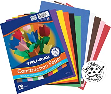 Pack of 2 10 Classic Colors 9 x 12 Tru-Ray Pacon Construction Paper P103031 50 Sheets