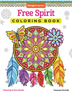 Free Spirit Coloring Book Is Fun Design Originals 32 Whimsical