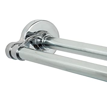 Curtain Rods curtain rods amazon : Amazon.com: Zenna Home 36602SS, NeverRust Aluminum Double Tension ...