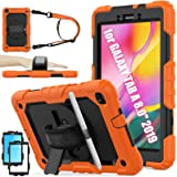 Samsung Galaxy Tab A 8.0 SM-T290/T295 Case, SEYMAC Stock [Full-Body] Drop Proof &Shockproof Armor Case with 360 Rotating Stan