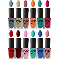 Volo Nail Polish Extra-Shine 7 Day Stay Combo Shade-Light Blue,Skin Nude,Chocolate Peach,Orange,Radium Green,Passion Pink,Blood Red,Great Maroon,Baby Pink,Fashion Green,Royal Blue,Peach Pink
