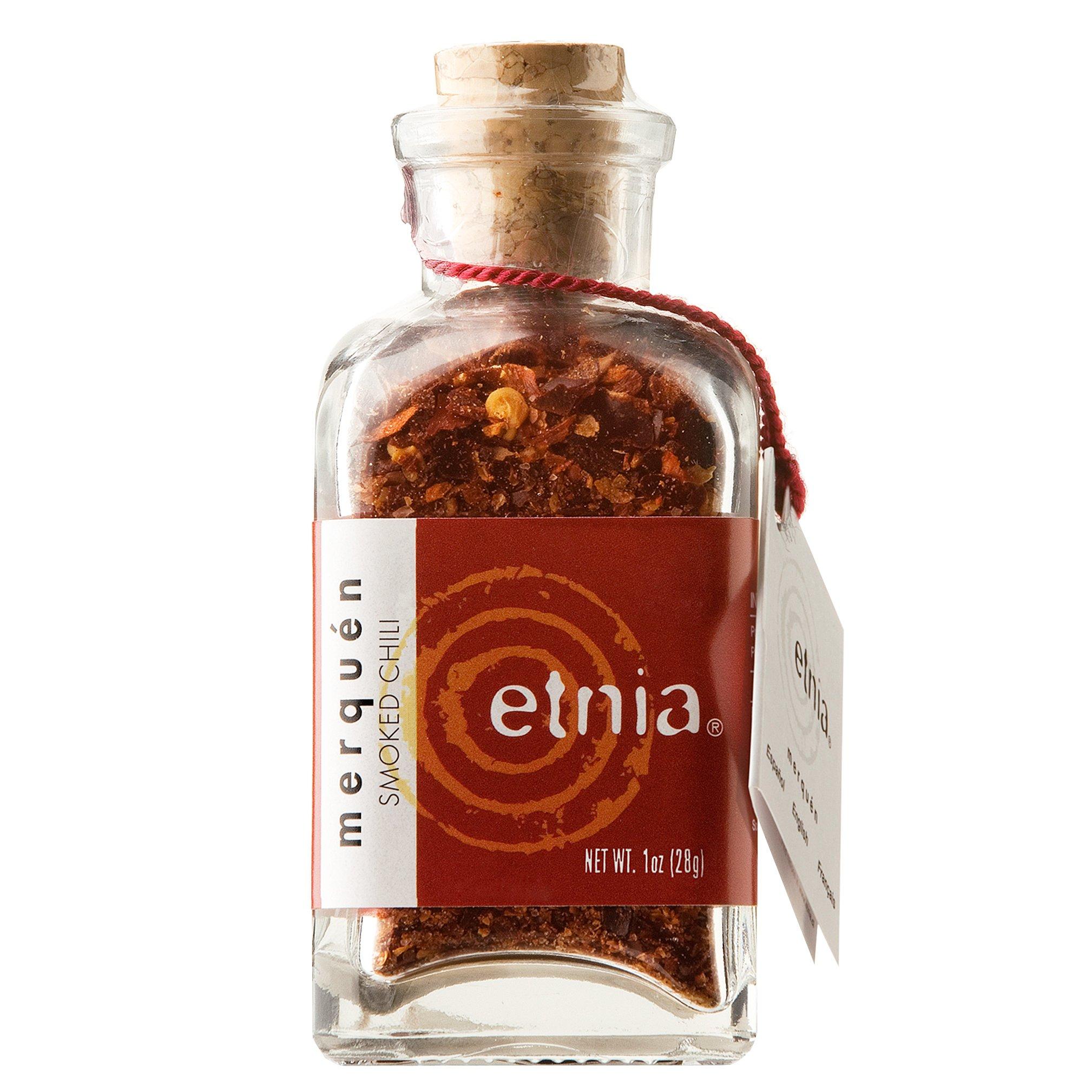 Etnia Chilean Merquen Smoked Chili Corked Bottle, Sea Salt, 1 Ounce