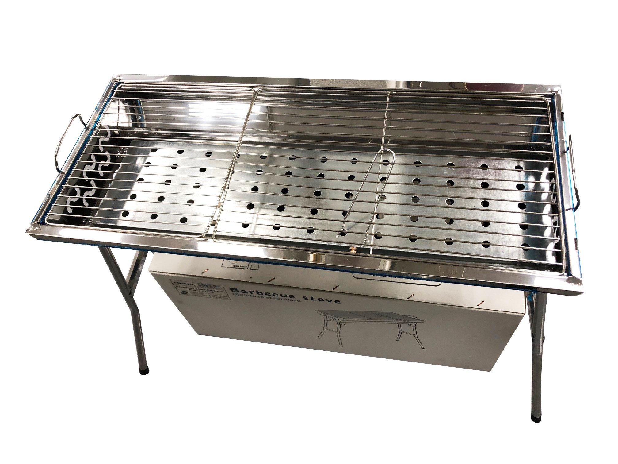 Caravelle Stainless Steel Portable BBQ Kebab Shashlik Grill