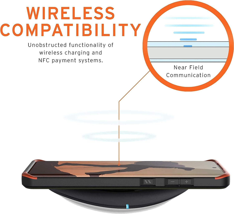 Compatible con Carga Inal/ámbrica, Ultra Resistente Slim Cover - carbon Carcasa Protector Case Urban Armor Gear Monarch Funda Samsung Galaxy S20+ 6.7