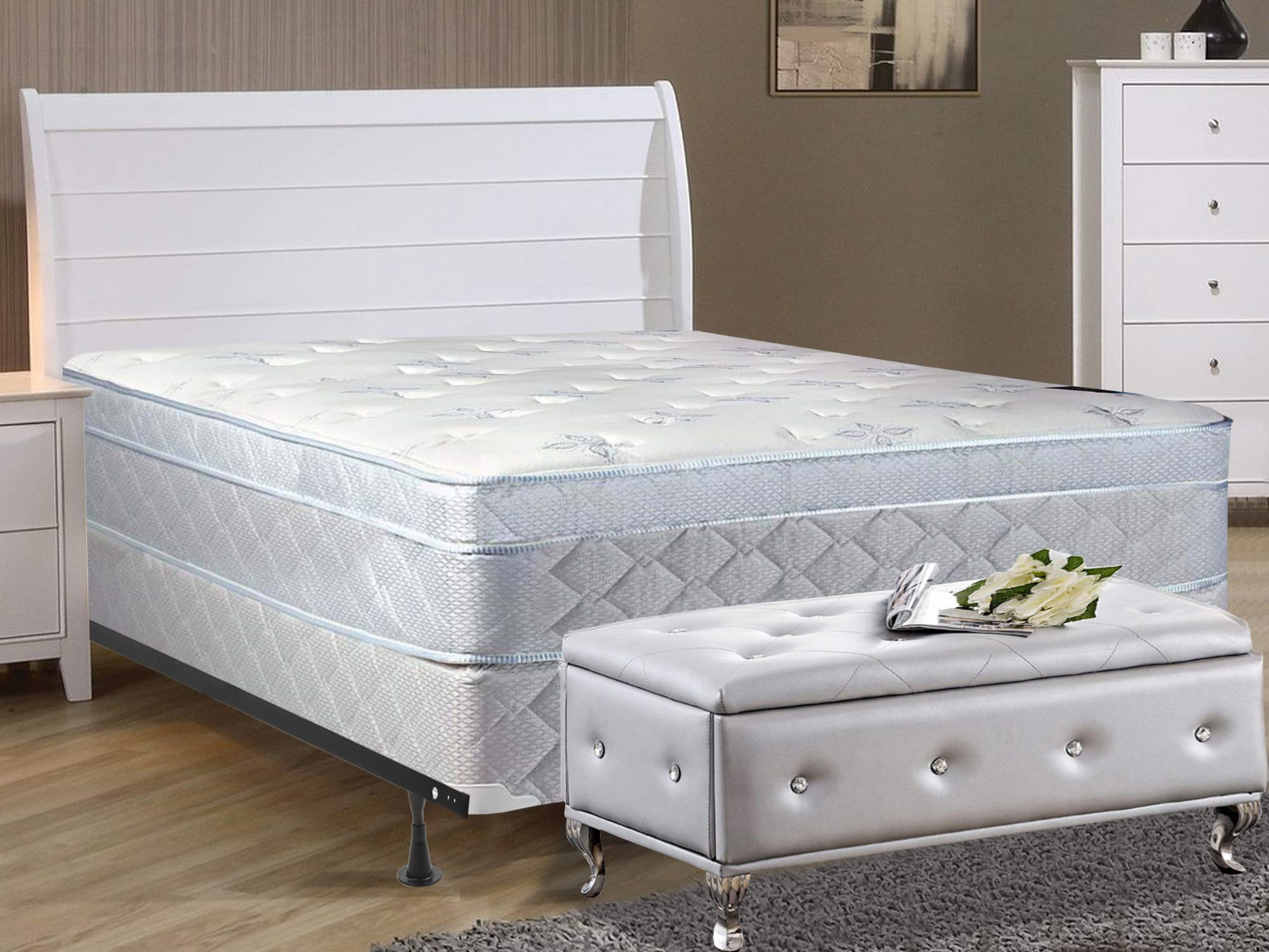 Continental Sleep 10-inch Plush Mattress, Full, Size by Continental Sleep