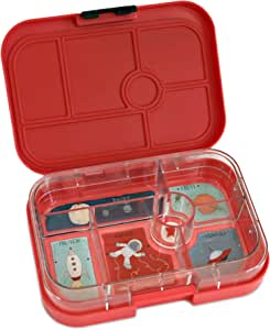 YUMBOX Leakproof Bento Lunch Box Container (Rocket Red) for Kids