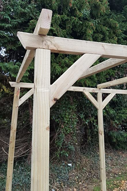 Wooden Garden Pergola Amazoncouk Outdoors