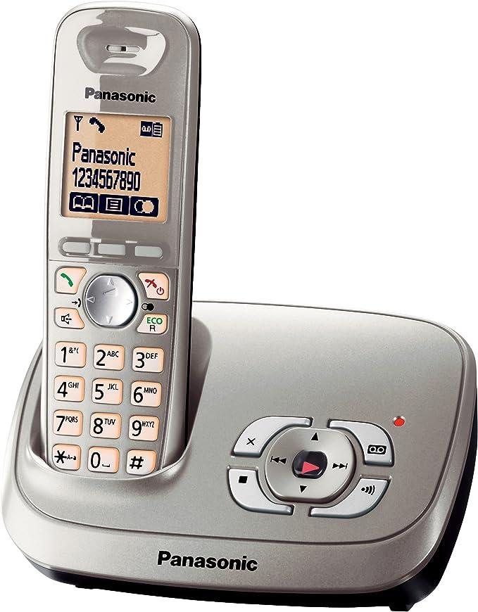 Panasonic KX-TG6521GB - Teléfono fijo digital, color negro [versión importada]: Amazon.es: Electrónica